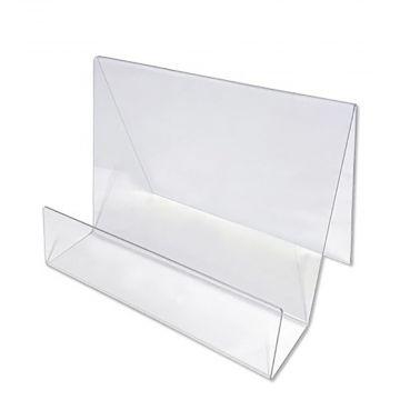 Bogholder i plexglas - akryl A5 vandret