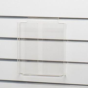 Brochureholder i opbukket klar akryl for rilleplader - A4 lodret