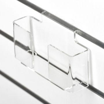 Brochureholder i opbukket klar akryl for rilleplader - A6 liggende<br />passer også som postkortholder