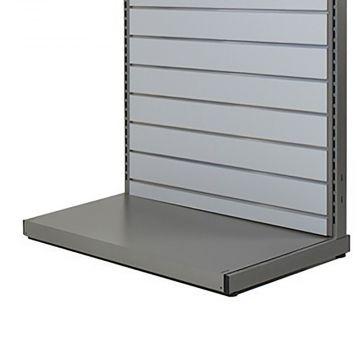 Bundplade i metal - grå titanlak - B120 cm