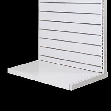 Bundpodie hvid lakeret metal - B90 cm