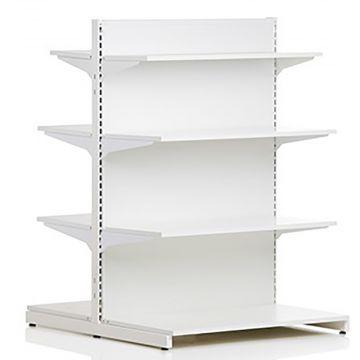 Butiksinventar - dobbeltsidet - hvid