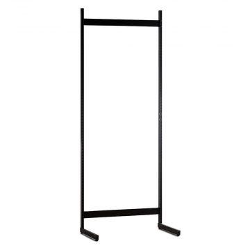 Gondol i sort - H200xB90 cm<br />består af afstandsstykker, inventarsøjler og L-ben