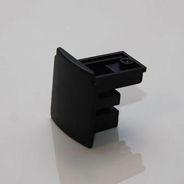 Endestykke - sort strømskinne tilbehør - bruges til afslutning af strømskinne