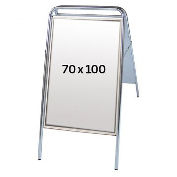 Gadeskilt - A-skilt 100x70 cm i alu lak