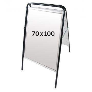 Gadeskilt - A-skilt 100x70 cm Sort |