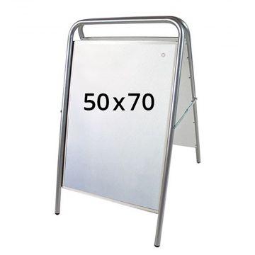 Gadeskilt - A skilt 70x50 cm | Lys grå