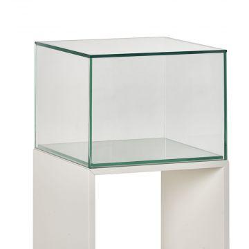 Glasmontre + Glaskube til udstilling |