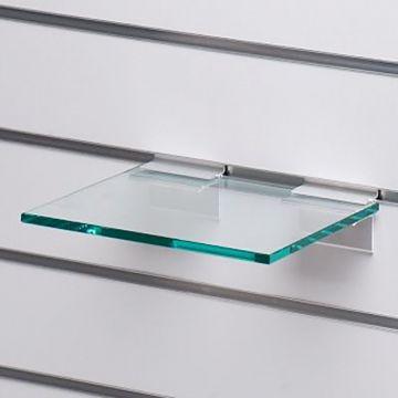 Glashylde i klart glas til rillepanel - findes i 3 forskellige farver<br />mål L25xD21 cm - tykkelse 8 mm