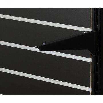 Hyldeknægt for glashylde sort lak - 30 cm