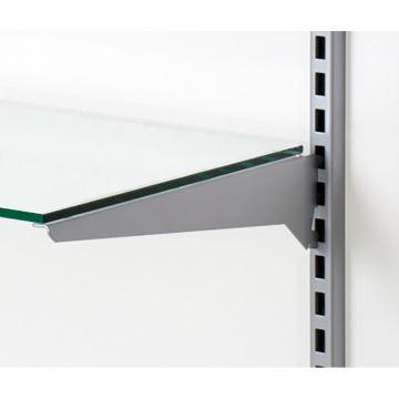 Hyldeknægt for glashylde alu lak - 40 cm