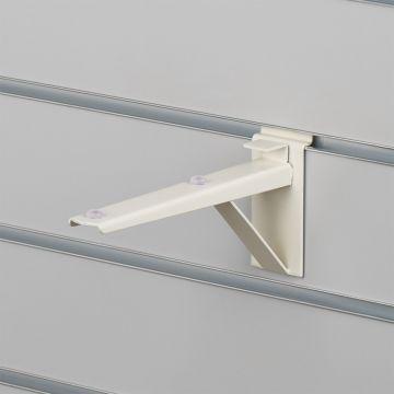 Hyldebeslag til slatwall  19 cm   Hvid