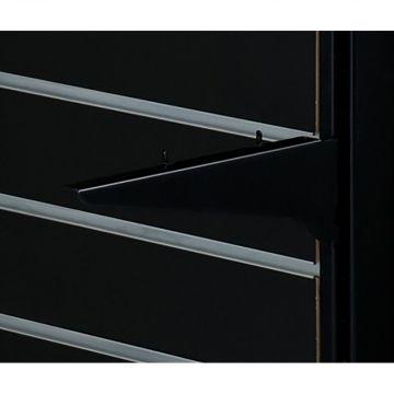 Hyldeknægt for butiksgondol 30 cm | Sort