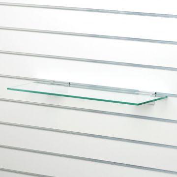 Hyldeplade glas 40x35 cm til rillepanel