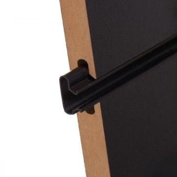Plastindsats for panelplade - 240 cm i sort
