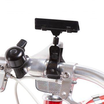 Skilteklemme til prisskilt - for cykelstyr - sort plast<br />mål B 8 cm - kan kun købes i kolli á 10 stk.