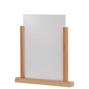 Skilteholder til bord  | A4 akryl skilte