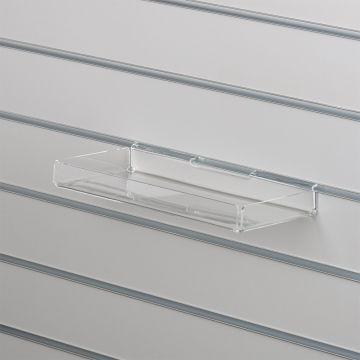 Bakke i klar akryl for rillepaneler - opbukket på alle 4 sider<br />mål B30xD15 - opbukkede kanter måler 3 cm
