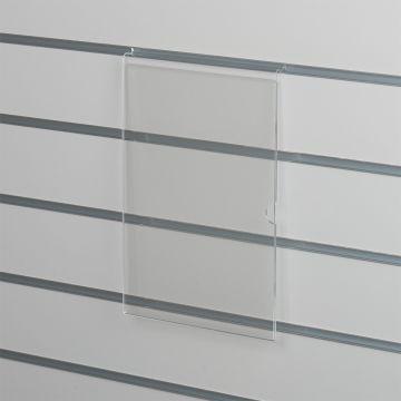 Skilteholder i klar akryl for panelplader - A4 stående<br />passer til format 21,0 x 29,6 cm papir