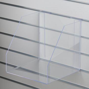 Akryl boks for rillepanel uden forkant - kraftig plexiglas<br />mål indvendig B31xH30xD30 cm