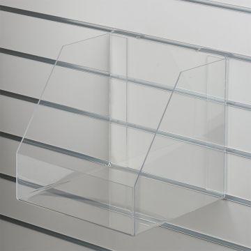 Akryl boks for rillepanel med forkant - kraftig plexiglas<br />mål indvendig B31xH30xD30 cm