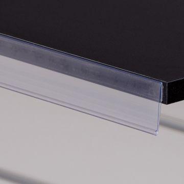 Hyldeforkant 39x585 mm med klæb - transparent
