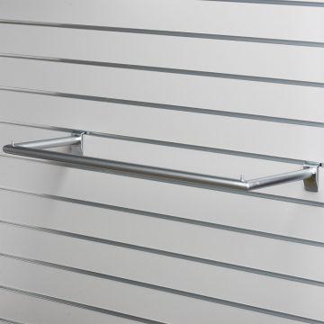 U-bøjlestang for panel - mat chrom overflade<br />mål B81xD28 cm - maks belastning 20 kg