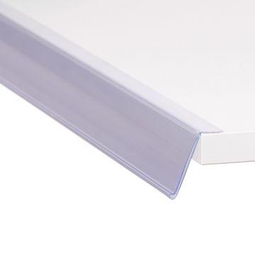Hyldeforkant 39x885 mm skrå med klæb - transparent