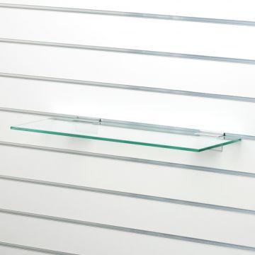 Glashylde i klart glas til rillepanel - findes i 3 forskellige farver<br />mål L40xD25 cm - tykkelse 8 mm