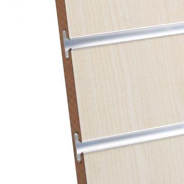 Rillepanel i birk / ahorn med sporafstand på 10 cm<br />mål H234xB86,5 cm og passer for L-søjler H239 cm