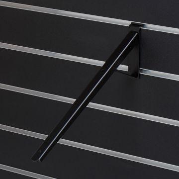 Hyldeknægt for rillepanel skrå i sort - 38 cm