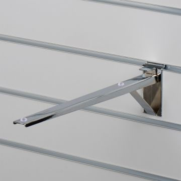 Hyldeknægt for rillepanel i chrom - 35 cm