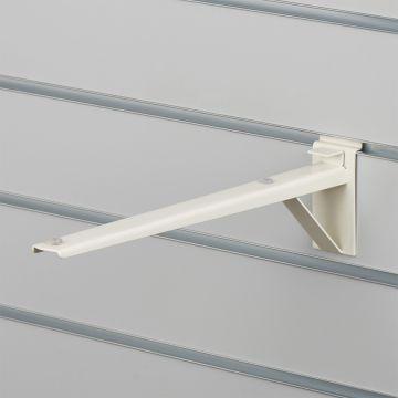 Hyldeknægt for rillepanel i hvid - 35 cm