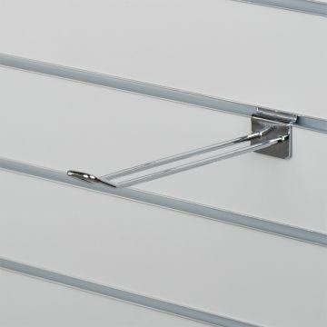 Varekrog dobbelt til panel - chrom overflade<br />mål L25 cm - trådtykkelse 0,5 cm