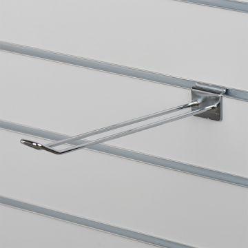 Varekrog dobbelt til panel - chrom overflade<br />mål L30 cm - trådtykkelse 0,5 cm