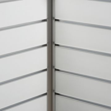 Aluminium hjørneliste til indvendig hjørne<br />mål 2,0x2,0 cm og længde 240 cm