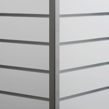 Aluminium hjørneliste til udvendig hjørne<br />mål 2,5x2,5 cm og længde 240 cm