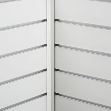 Hvid hjørneliste til indvendig hjørne<br />mål 2,0x2,0 cm og længde 240 cm