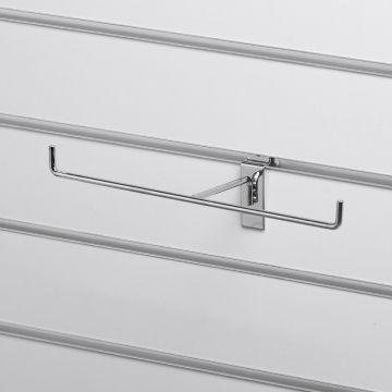 T-ophæng til panelplade - til smykker og andre lette varer - chrom overflade<br />mål D10xB25 cm