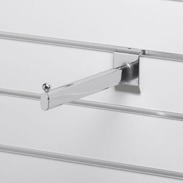 Fronthæng for rillepanel - overflade i chrom - mål L23 cm