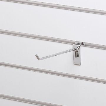 Varekrog enkel for rillepanel - overflade i chrom<br />mål L20 cm - trådtykkelse 5 mm