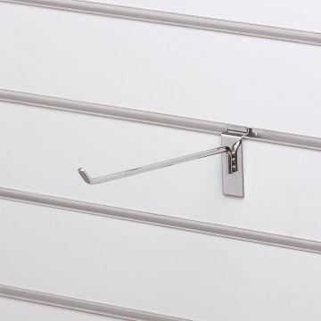 Varekrog enkel for rillepanel - overflade i chrom<br />mål L25 cm - trådtykkelse 6 mm