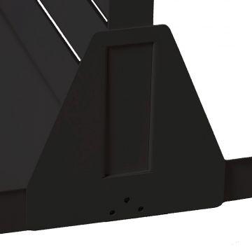 Sort afstivningsbeslag for gulvstander - brug 2 stk. pr. gulvstander<br />Sikrer dine tunge varer på hylden