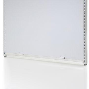 Bundbeslag for gavlramme NS-32-91 og der skal bruges 2 beslag for hver gavlramme<br />overflade i hvid lak - kun til glat plade