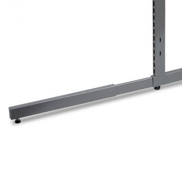 Grå metallic lak ekstra fod til L-søjle for dobbeltsidet gondol / modulfag