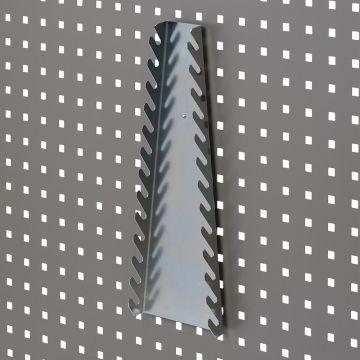 Fastnøgleholder for 13 gaffelnøgler<br />værktøjsophæng til værkstedsplade med firkantede huller