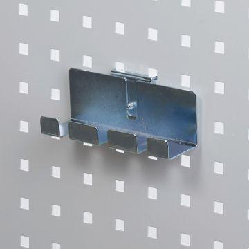 Fileholder - skruetrækkerholder for 3 enheder<br />værktøjsophæng til værkstedsplade med firkantede huller