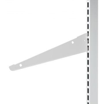 Hyldeknægte i hvid lak for trådhylde<br />mål L 40 cm - deling 32 mm