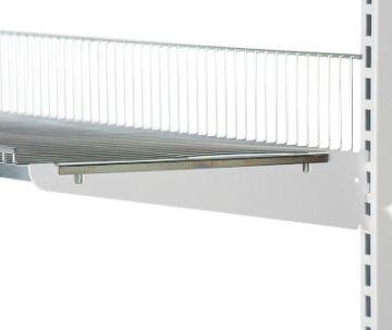 Hyldeknægte i hvid lak for trådhylde<br />mål L 30 cm - deling 32 mm