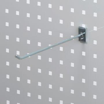 Værktøjsophæng - dobbelt varekrog i zink - til hulplade med firkanthuller<br /> mål 25 cm - trådtykkelse Ø6 cm